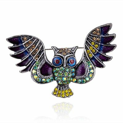 Fashion Women Crystal Insect Animal Owl Bird Breastpin Brooch Pin Jewelry Party