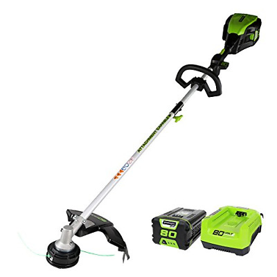 GreenWorks Pro 80V 16-Inch Cordless String Trimmer Attachment Capable, 2Ah and