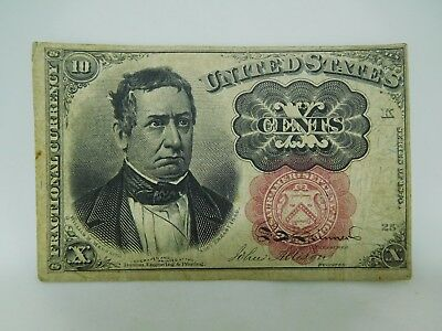 1874 US 10 Cent Fractional Currency Note Fine