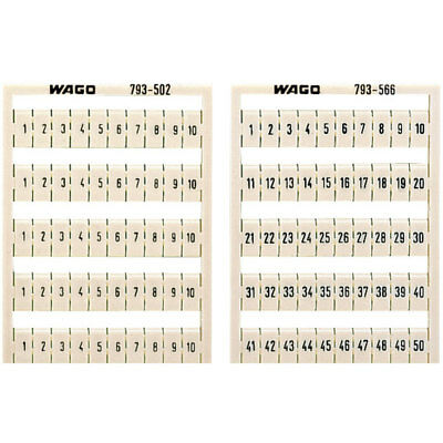 WAGO 793-5502 WMB Multiple Marking System Horizontal Marking 1 ... 10 10x White