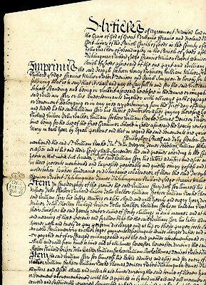 1728  Legal Document with White Embossed Revenue Stamps   (D1367)