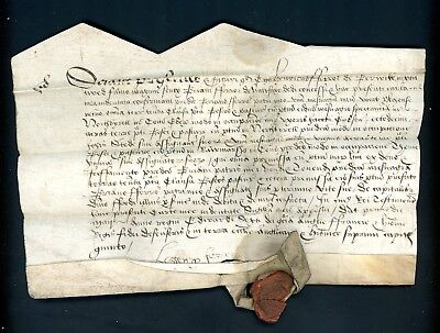 c.1700  Legal Document/Letter  with Red Seal     (D1362)