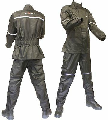 WATERPROOF Jacket & Trousers / Pants for Motorcycle Over SUIT RAIN 2 Piece