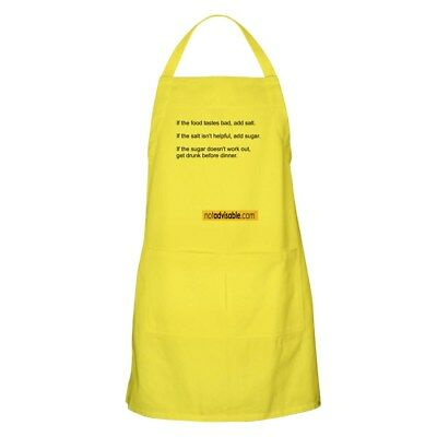 CafePress Not Advisable Chef's Apron Full Length Cooking Apron (48545538)