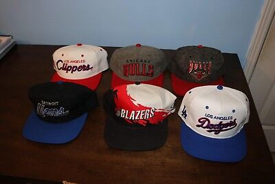 Vintage Snapback Hats Lot SS NBA NFL