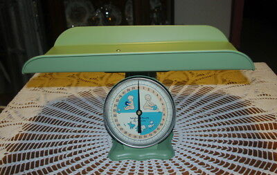 Vintage Green Baby Scale Baby Shower Photography Photo Prop