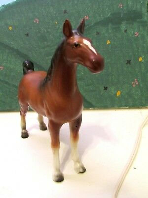 Horse Porcelain Bay Saddlebred Horse Figurine Statue Sculpture Vintage Japan