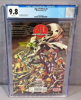 AGE OF ULTRON #2 (Bryan Hitch Moon Knight Cover) CGC 9.8 Marvel Comics 2013