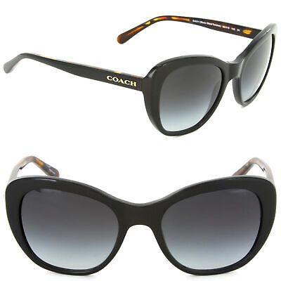 68fe391f15 Coach HC8204 544211 Cat Eye Sunglasses Black Tortoise   Light Grey Gradient  Lens