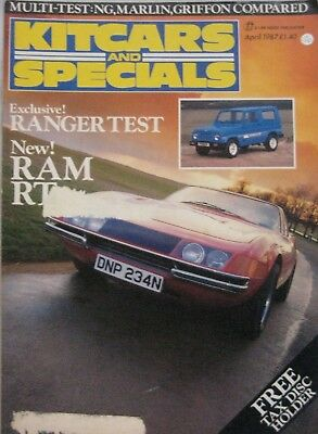 Kitcars & Specials magazine 04/1987 featuring Griffon, Marlin Roadster, NG TD