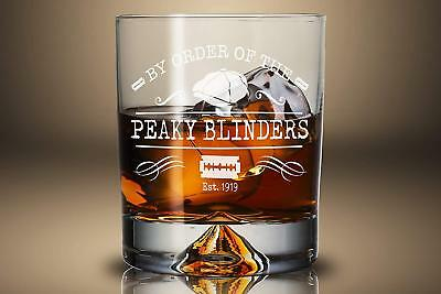 Peaky Blinders Christmas Gift Whiskey Tumbler Great For Him Birthday Glass