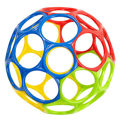 Oball Activity Toy Ball with 32 Finger Holes Smooth Flexible Colourfull