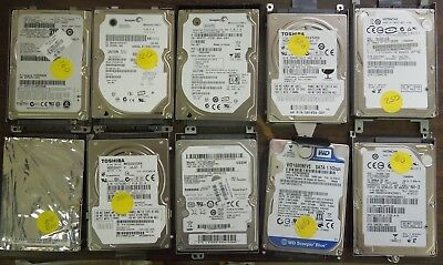 10 Pc. Mixed Lot Laptop Hdd 1112-94
