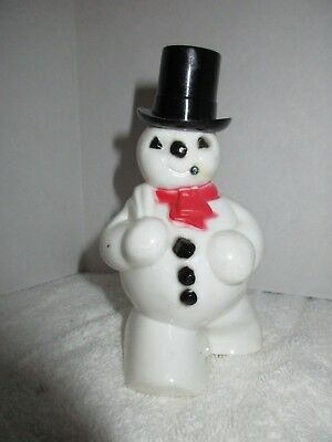 Vintage 1950's Snowman Christmas Figure Candy Holder Holiday Decorations