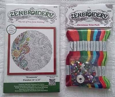 *** Zenbroidery Christmas Ornaments Kit & Thread Pack ** Xmas Stocking Filler **