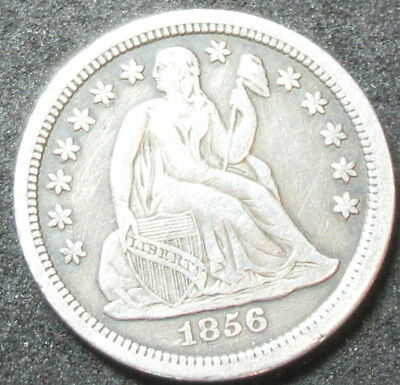 1856 Seated Liberty Dime Coin