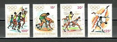 Senegal, Scott cat. 365-368. Munich Olympics issue