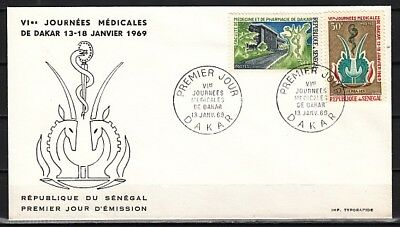 Senegal, Scott cat. 310-311/ Medical Meeting issue. First day cover