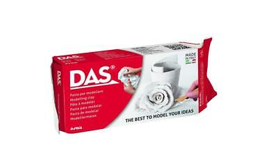 White Air Dry Clay DAS Modelling Sculpting Self Hardening No Baking 1Kg