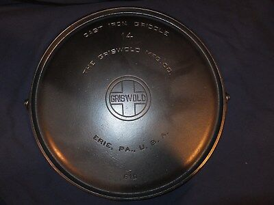 # 14 618 Griswold Cast Iron Griddle