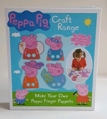 Brand New Peppa Pig Make Your Own Finger Puppets - Craft Range