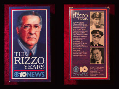 The Rizzo Years WCAU TV 10 ULTRA RARE Frank Rizzo Philadelphia VHS VIDEO