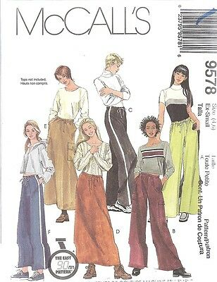 8753 Uncut Mccalls Nähmuster Misses Kleid Top Rock Oop Freizeit Sommer Oop