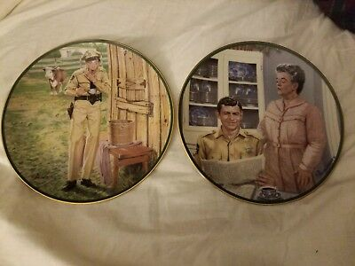 The Hamilton Collection Andy Griffith Show Plate Lot Of 2 *Rare*