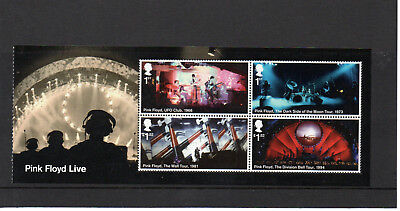 Gb 2016 Pink Floyd Live Miniature Sheet Um/mnh Sg Ms3855