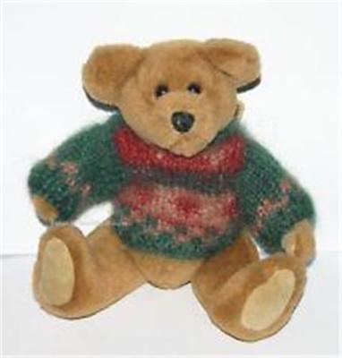 Boyds Archive Investment Collection 9' Logan Jointed Plush Bear Winter Sweater N
