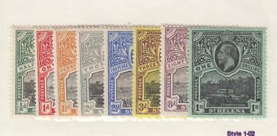 ST HELENA # 61-68 VF-MLH KGV SET TO 1sh