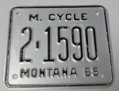 1965 Montana motorcycle license plate