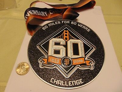 Coin Token Medal Medallian 60 Miles For 60 Years Challenge San Francisco