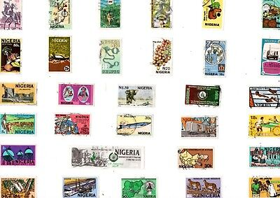 A Lovely Mix Of 31 Different Good/fine Used Commemorative Stamps From Nigeria
