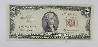 Crisp 1953-C Red Seal $2.00 United States Note - Better Grade *612