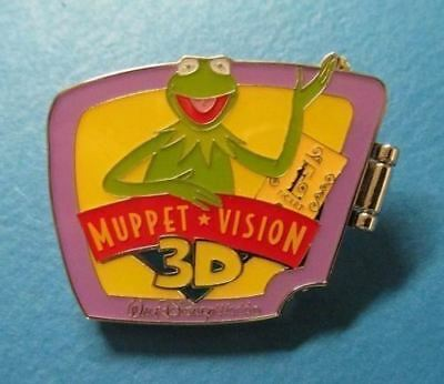 Disney Pin WDW - E-Ticket Attractions - Kermit Sweetums Bunny - Muppet Vision 3D