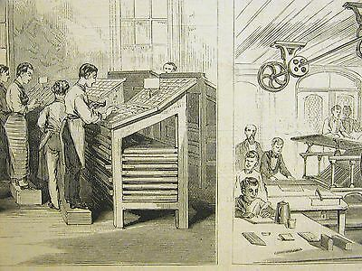 Hebrew Orphan Asylum INDUSTRIAL SCHOOL PRESS 3rd Ave. 76th St. 1872 Print Matted