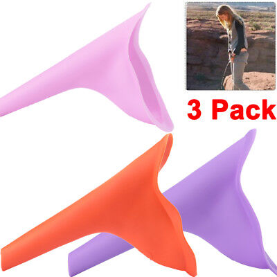 3pack Reusable Silicone Portable Urinal Women Female Travel Camping Urine Funnel