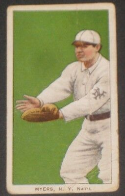 1909 T206 Piedmont Baseball Card MYERS Antique Collectible Tobacco Cards