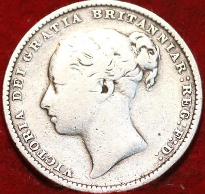 1879 Great Britain Shilling Silver Foreign Coin