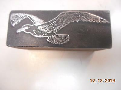 Printing Letterpress Printer Block Decorative Flying Seagull Printer Cut