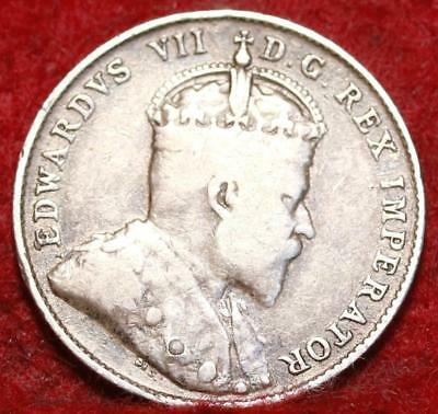 1903H Canada 10 Cents Silver Foreign Coin