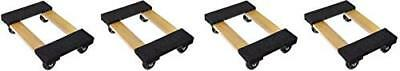 """18"""" X 12"""" Furniture Appliance Mover's Dolly, 1000 LB, 4 Pack"""