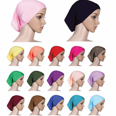 Muslim Inner Hijab Caps Islamic Underscarf Hats Jersey Cotton Stretchble