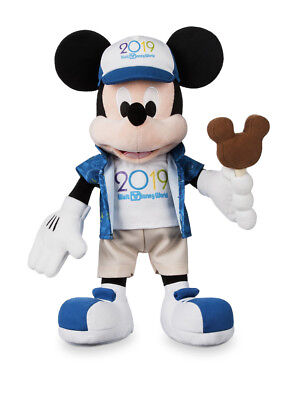 Disney Parks 2019 Mickey Mouse 15 inch Plush Doll NEW