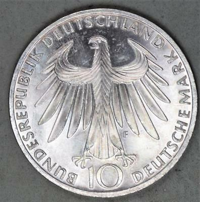 Germany 1972-F 10 Mark Silver Coin - Olympics Commemorative