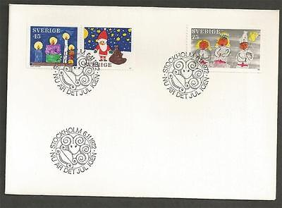 SWEDEN - 1972 Christmas Stamps - FIRST DAY COVER.