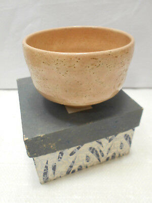 Japanese Tea Ceremony Pottery Bowl Chanoyu Traditional Vintage Pitted Glaze #167