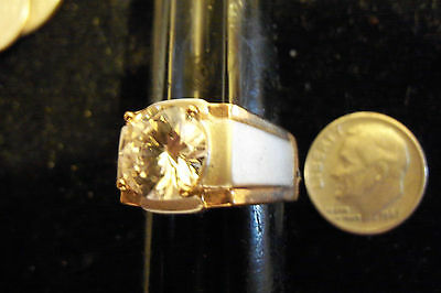 bling gold plated cubic cz solitaire iced out FASHION ring hip hop JEWELRY sz 12