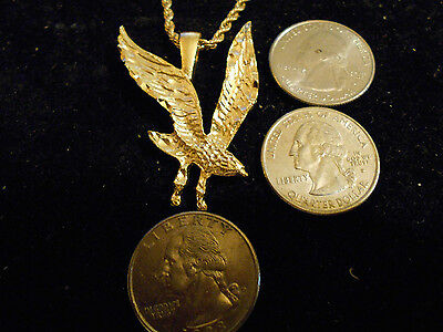 bling gold plated eagle MILITARY fashion pendant charm hip hop necklace jewelry